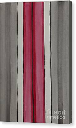 Canvas Print featuring the painting Lines by Jacqueline Athmann