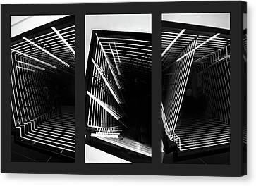 Lines Of Light Triptych Canvas Print