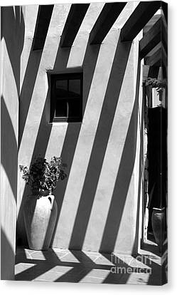 Lines Of Shadows Canvas Print by Cathy Gregg