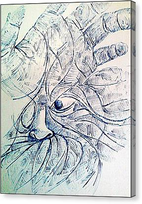 Indian Ink Canvas Print - Lines Of The Hands by Paulo Zerbato