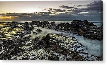 Lines Of Time Canvas Print by Mark Lucey