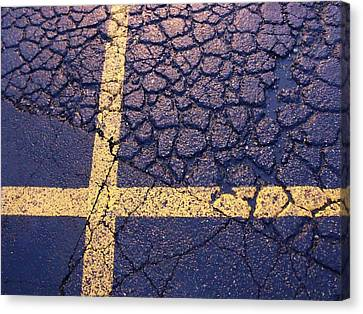 Canvas Print - Lines On Asphalt I by Anna Villarreal Garbis