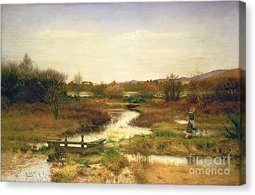Lingering Autumn Canvas Print by Sir John Everett Millais