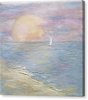 Canvas Print featuring the painting Lingering Freedom by Judith Rhue