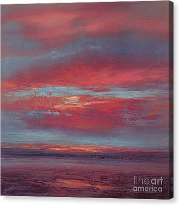 Lingering Heat Canvas Print by Valerie Travers