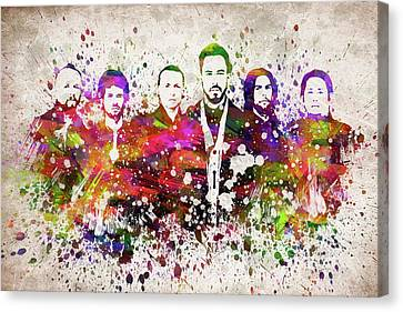 Jay Z Canvas Print - Linkin Park In Color by Aged Pixel