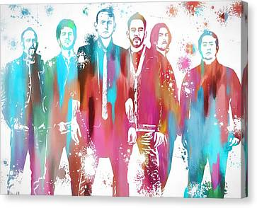 Linkin Park Watercolor Paint Splatter Canvas Print by Dan Sproul