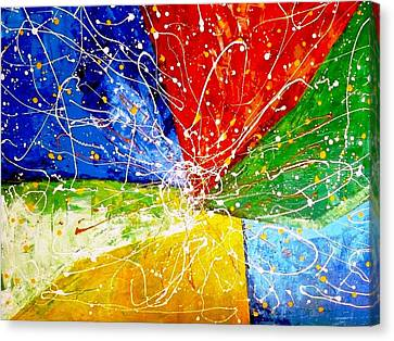Canvas Print featuring the painting Linkz by Piety Dsilva