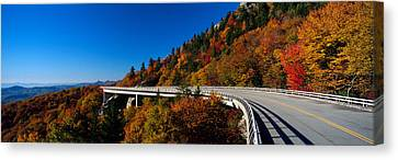 Linn Cove Viaduct Blue Ridge Parkway Nc Canvas Print by Panoramic Images