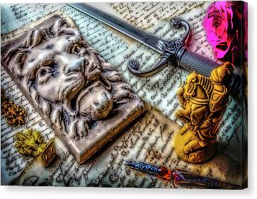 Lion And Dagger Canvas Print by Garry Gay