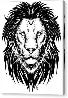 Lion Art Canvas Print by Harold Rodriguez
