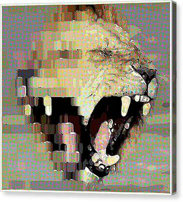 Lion By Patricia Griffin Canvas Print