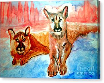 Lion Cubs Of Arizona Canvas Print