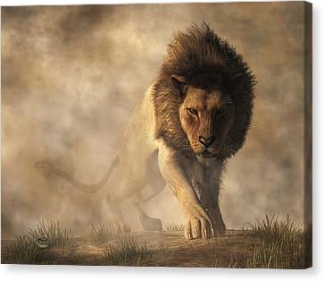 Lion Canvas Print by Daniel Eskridge