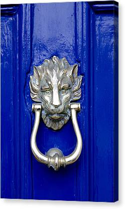 Lion Doorknocker Canvas Print by Tony Grider