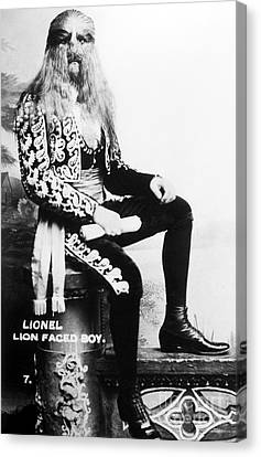 Lion-faced Man, 1907 Canvas Print by Granger