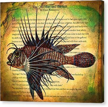 Lion Fish Canvas Print by John K Woodruff