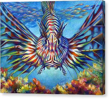 Lion Fish Canvas Print by Nancy Tilles