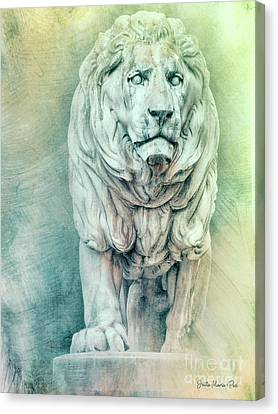Creative Manipulation Canvas Print - Lion For Eternity by Jutta Maria Pusl
