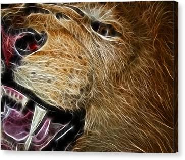 Lion Fractal Canvas Print by Shane Bechler