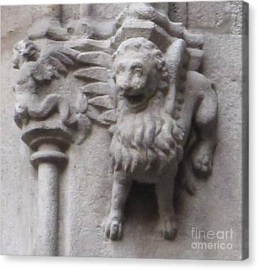 Lion Gargoyle Barcelona Renaissance Canvas Print