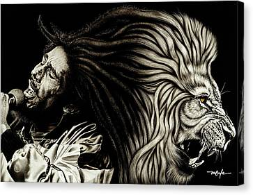 Lion Heart -bob Marley Canvas Print