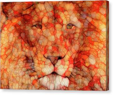 Abstract Digital Canvas Print - Lion  by Jack Zulli