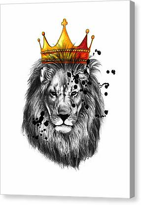 Caricature Canvas Print - Lion King  by Mark Ashkenazi