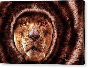 Lion Lady   -2 Canvas Print by Prar Kulasekara