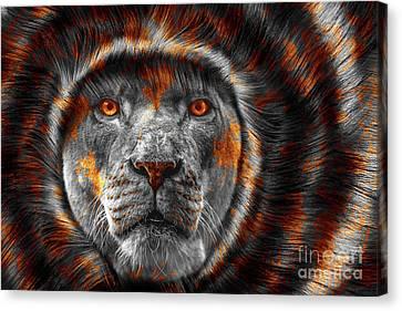 Animals Canvas Print - Lion Lady   -4 by Prar Kulasekara