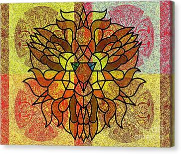 Lion Legacy Perfected Unity Canvas Print by Trent Jackson