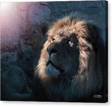 Lion Light Canvas Print