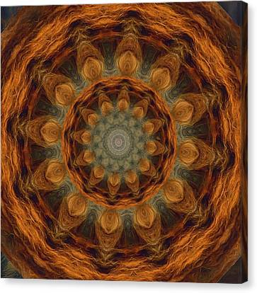 Canvas Print featuring the painting Lion Mandala by Shelley Bain