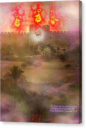 Canvas Print featuring the photograph Lion Of Judah At The Gate He Is Coming by Anastasia Savage Ealy