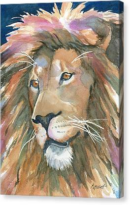 Lion Of Judah Canvas Print by Marsha Elliott
