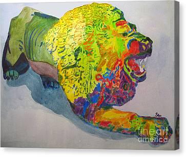 Growling Canvas Print - Lion Of Judah by Sandy McIntire