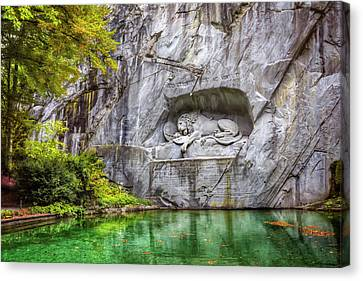Lion Of Lucerne Canvas Print by Carol Japp