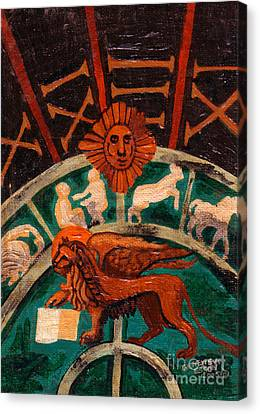 Canvas Print featuring the painting Lion Of St. Mark by Genevieve Esson