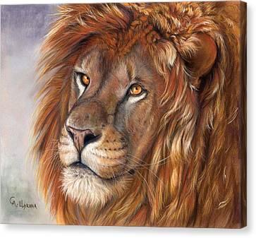 Lion Portrait Canvas Print by Svetlana Ledneva-Schukina