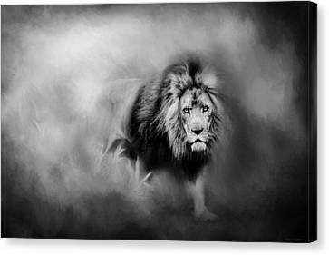 Lion - Pride Of Africa 3 - Tribute To Cecil In Black And White Canvas Print by Michelle Wrighton