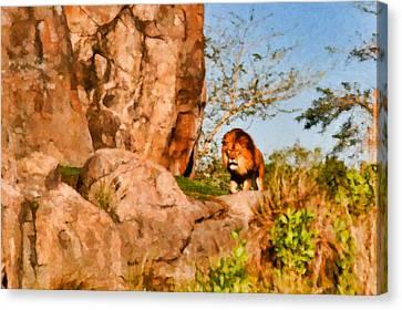 Lion Pride Canvas Print by Paul Bartoszek
