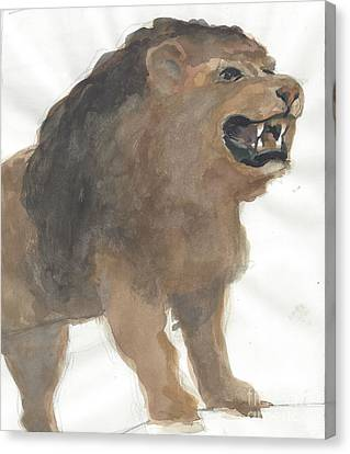 Lion Canvas Print by Robert Bowden