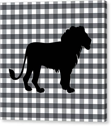 Lion Silhouette Canvas Print by Linda Woods