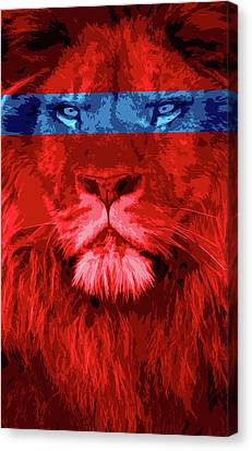 Lion Canvas Print by Sven Horn