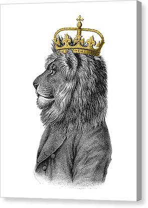 Lion The King Of The Jungle Canvas Print by Madame Memento