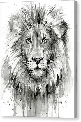Lion Watercolor  Canvas Print