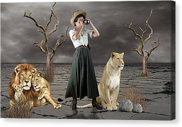 Lioness Canvas Print - Lion Whisperer by Marvin Blaine