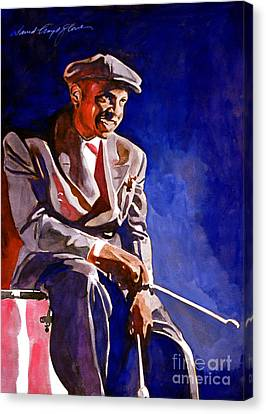 Lionel Hampton  Canvas Print by David Lloyd Glover