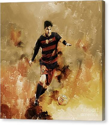 Lionel Messi 01 Canvas Print by Gull G
