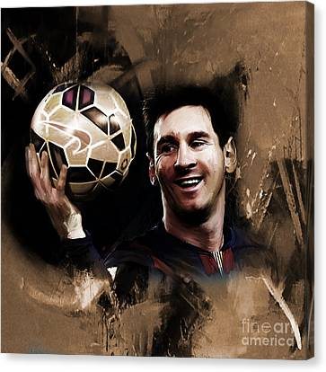 Lionel Messi 032a Canvas Print by Gull G